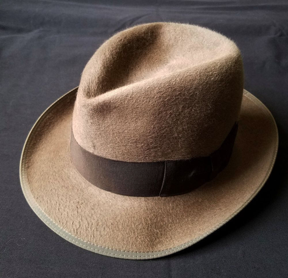 29806490e90eff Vintage 50s Borsalino Alessandria Fedora Fur Felt Hat Italy Size 6 / 6.5  Brown | Clothing, Shoes & Accessories, Vintage, Vintage Accessories | eBay!
