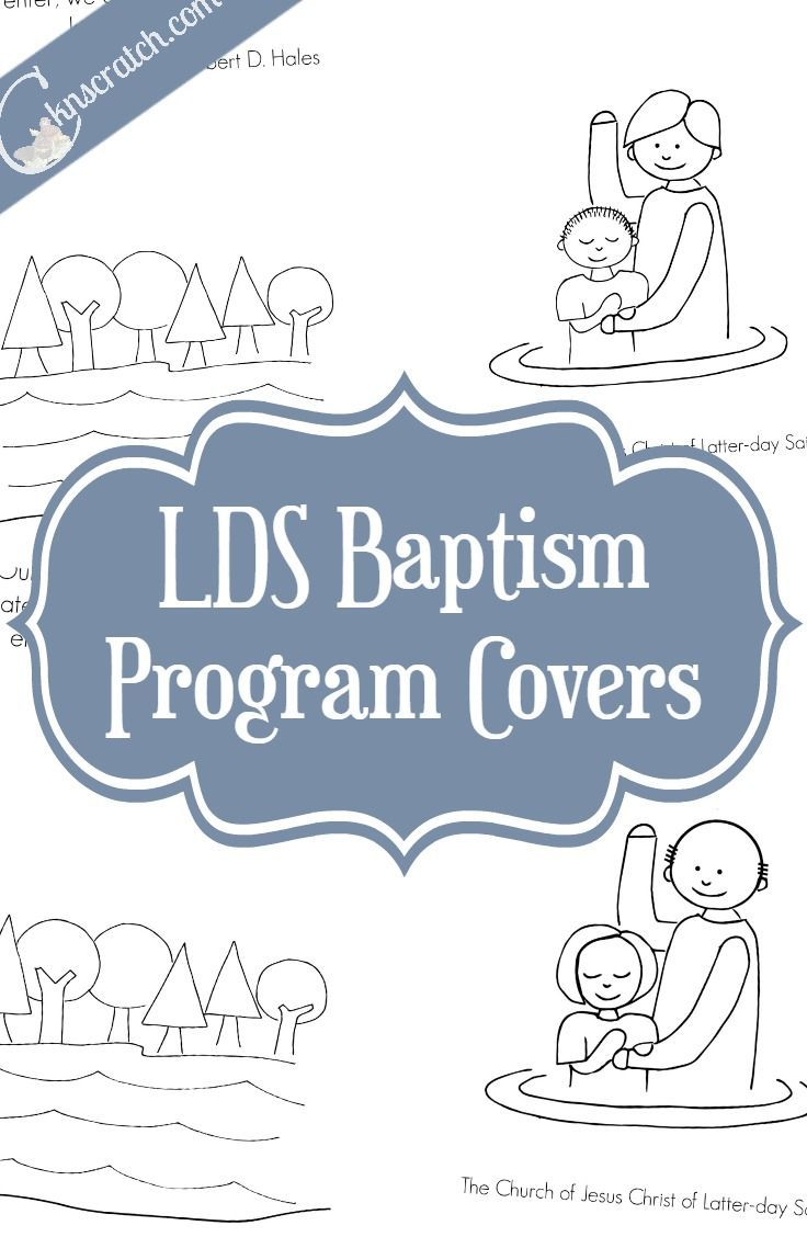 Free LDS Baptism Covers