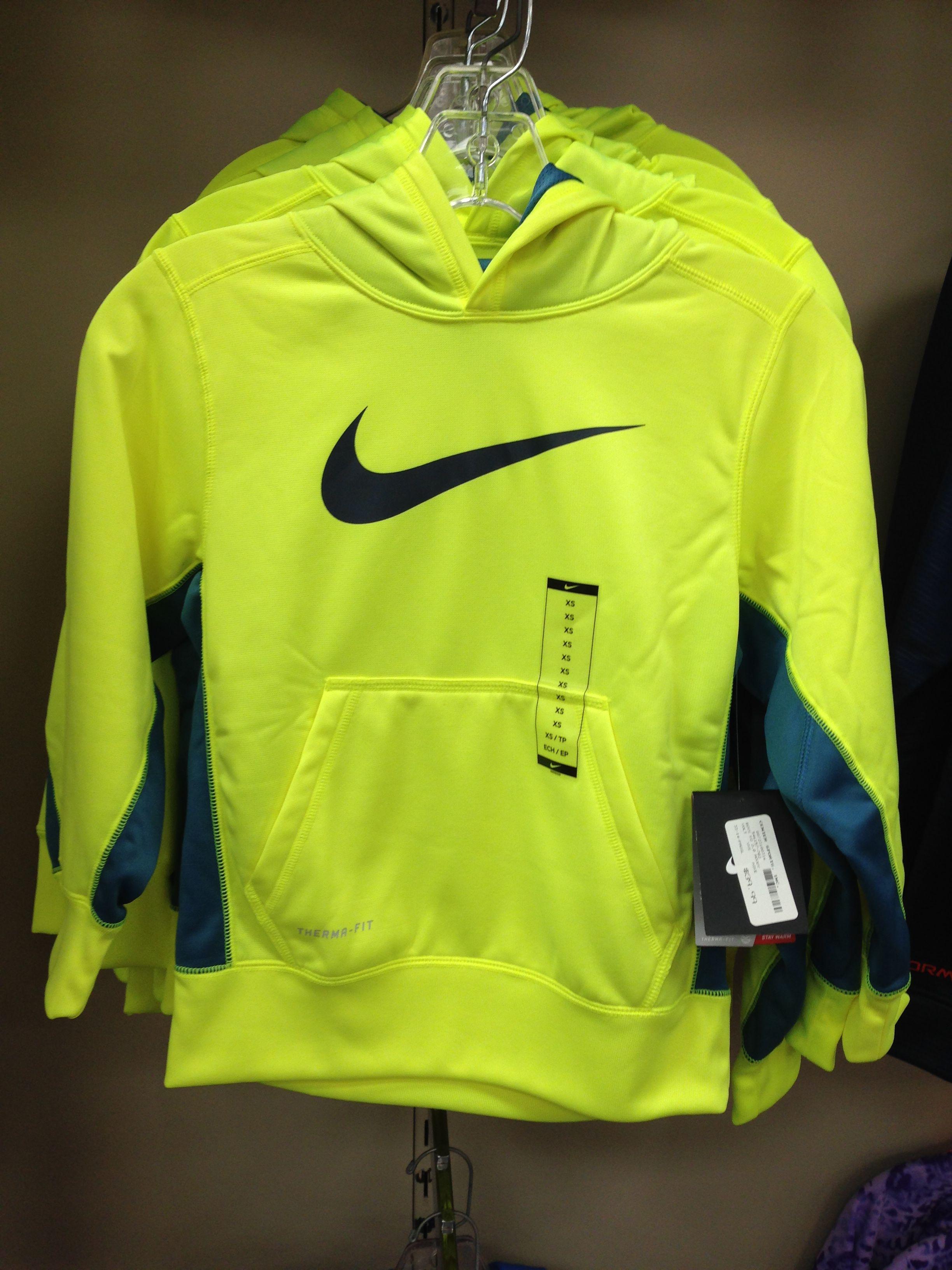 Youth Nike Sweatshirt, Neon Yellow and Gray | Kids outfits