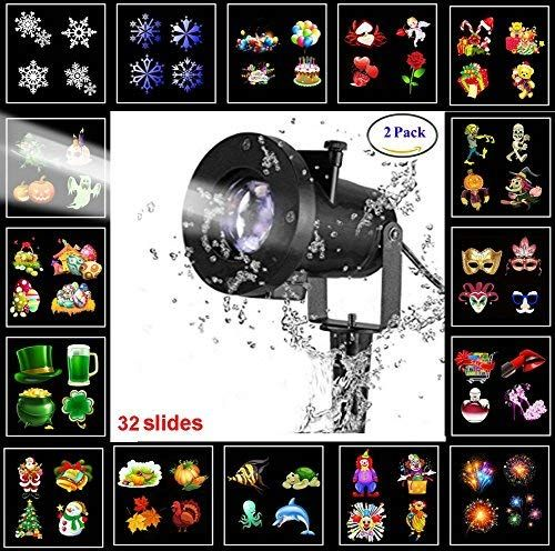 ANTTAA Led Christmas Light Projector with 16 Slides Dynamic