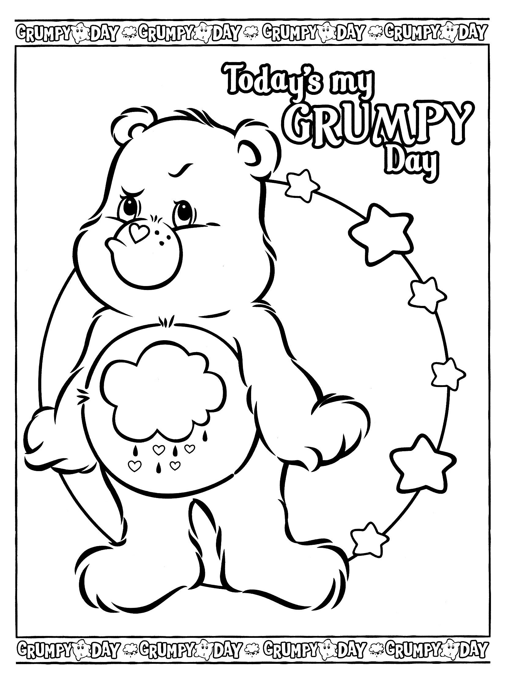 Care Bears Coloring Page With Images Bear Coloring Pages