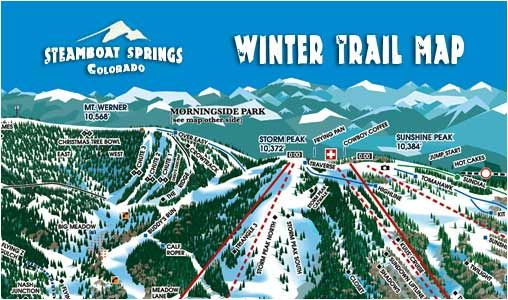Steamboat Springs Ski & Trail Map - Ski Steamboat Springs, CO ...
