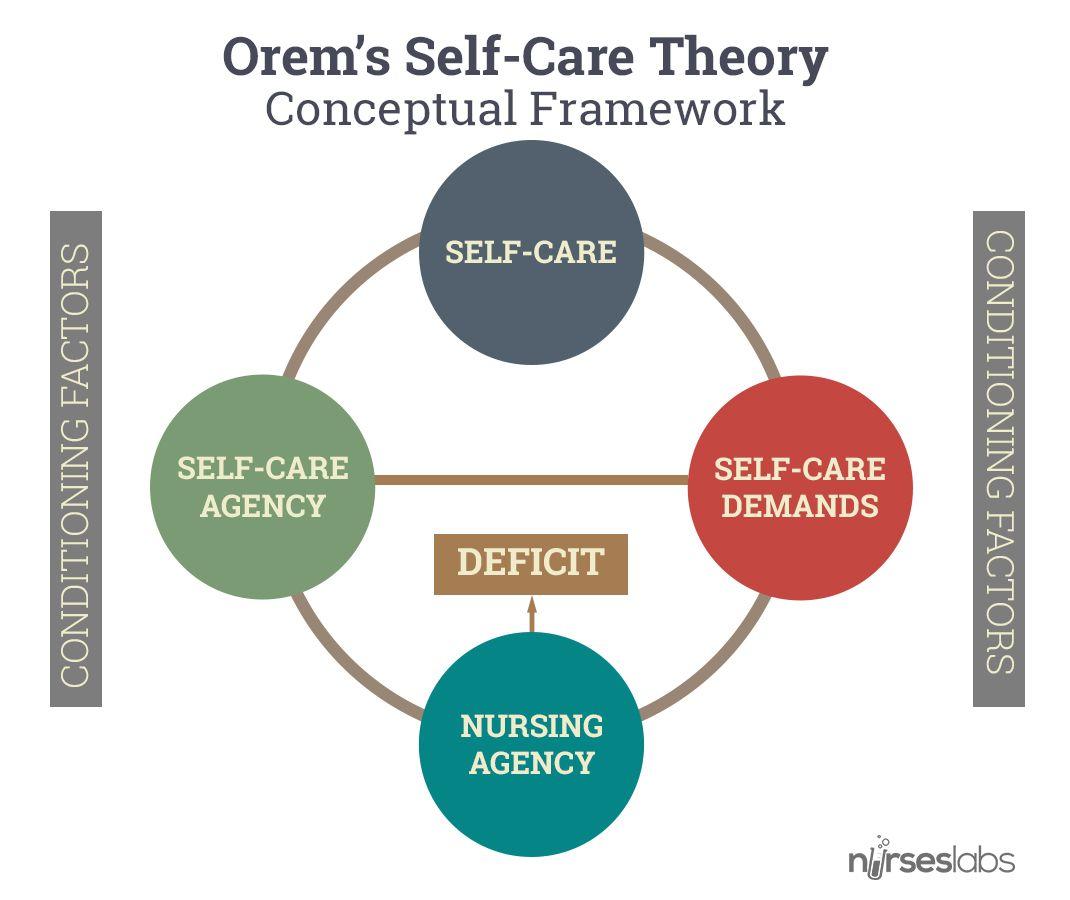 Dorothea Orem Self Care Deficit Theory Study Guide Nursing Theory Orem Theory Conceptual Framework
