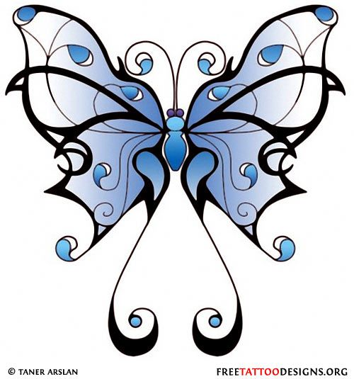Girly Butterfly Tattoo Blue Butterfly Art Painting Butterfly Art Butterfly Tattoo Designs