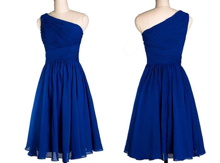 8d9cfbb119c short blue bridesmaid dresses for Minions wedding