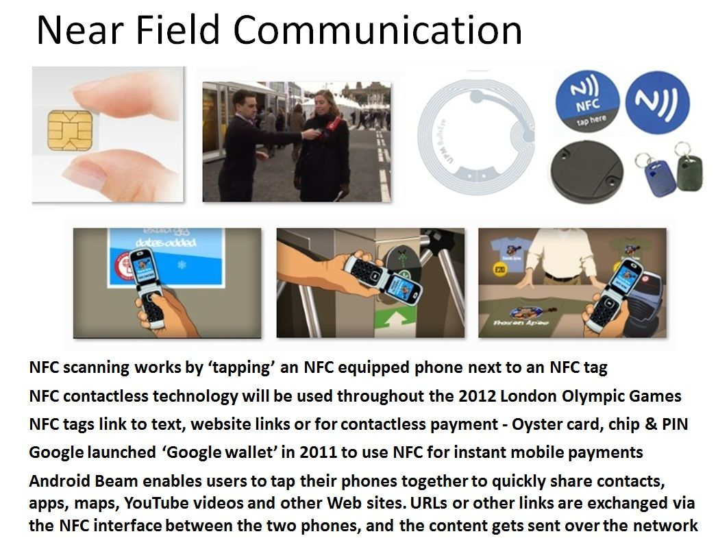 Near Field Communication (NFC tags) are beginning to