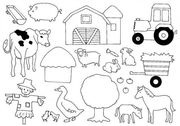 Coloriage Simple Animaux De La Ferme.Les Animaux De La Ferme Coloriage Zwa Farm Animal Crafts Farm