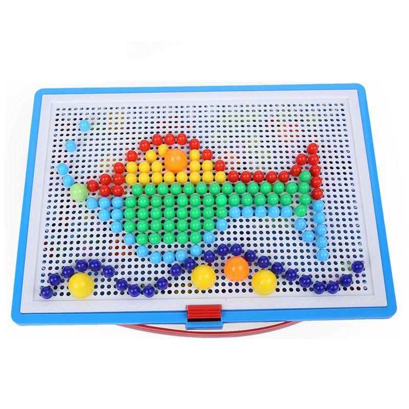 296 개 창조적 인 모자이크 장난감 그림 퍼즐 선물 어린이 네일 복합 집 유지 지적 발달 임의의 색상