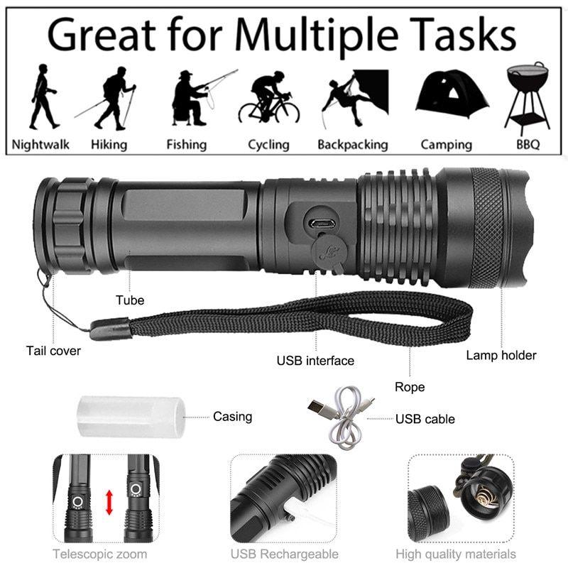 Buy 2 Free Shipping Super Bright Tactical Flashlight