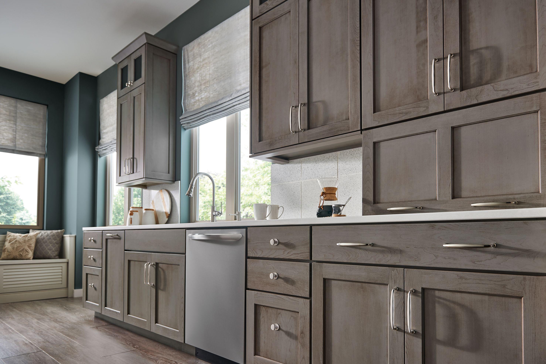 Brushed Nickel White Kitchen Cabinet Hardware Ideas   Look ...