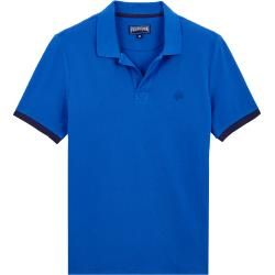 Photo of Men Ready to Wear – Solid cotton polo shirt for men – Polo shirt – Palatine – Blue – 4xl – V