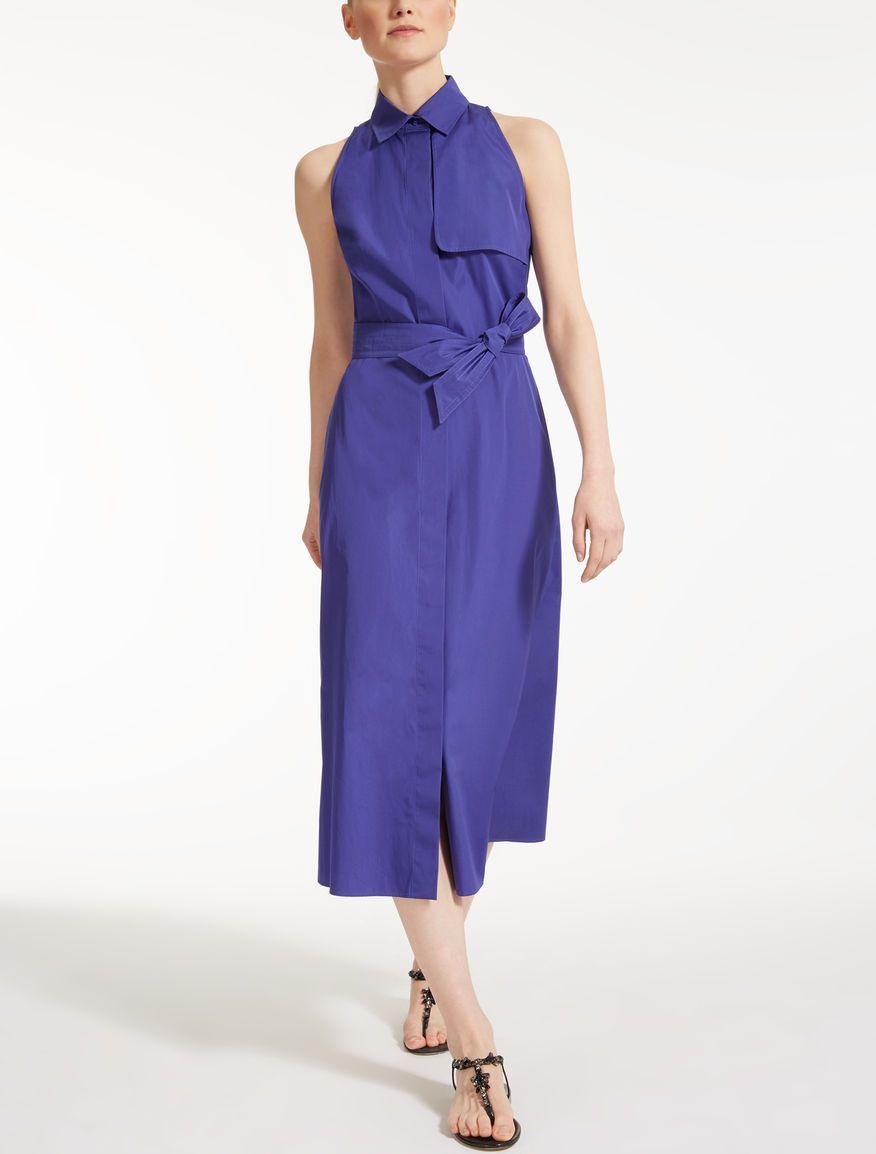 Max mara zefir cornflower blue cotton poplin dress wishlist in