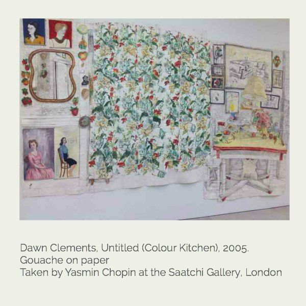Sloane Square for design inspiration - a hand drawn interior artwork from Dawn Clements