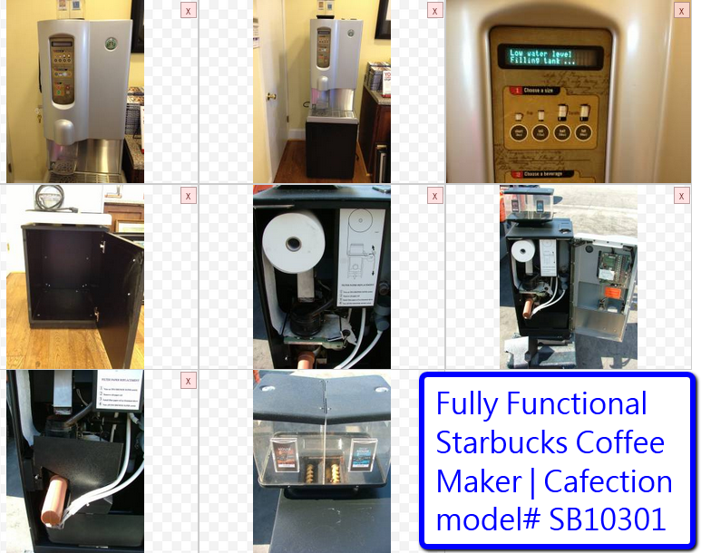 Starbucks Cafection Coffee Brewer model SB10302 1000