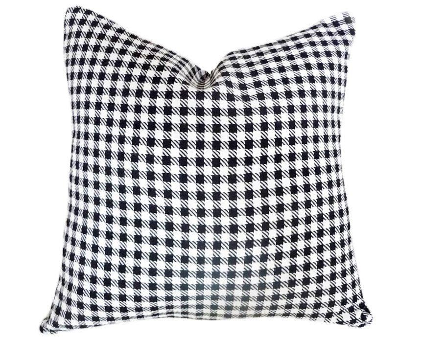 Best Black White Pillows Black White Plaid Cushion Cover 400 x 300