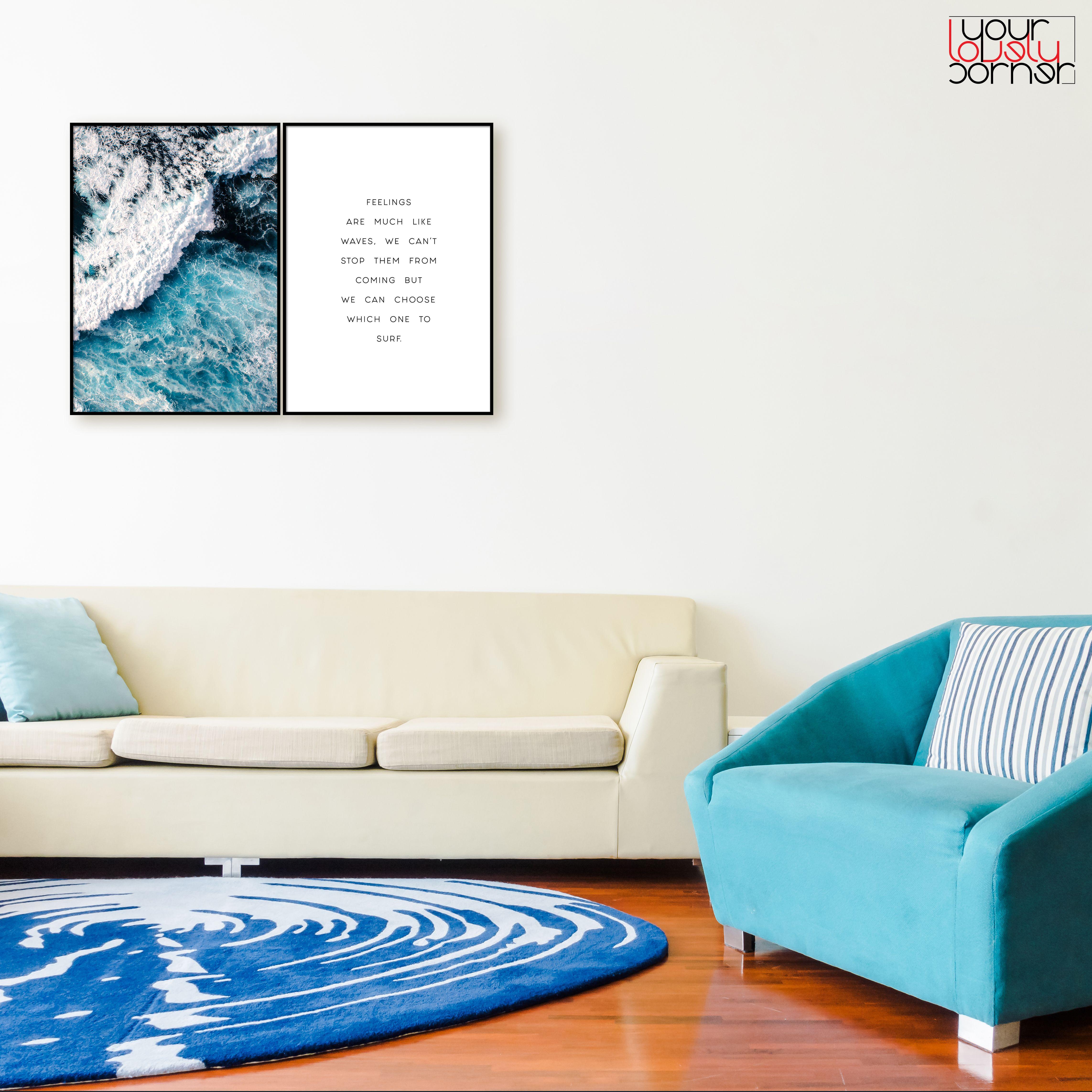 Ocean Wave Printable Ocean Foam Ocean Waves Photo Blue Wave Print Wave Wall Art Sea Waves Print Ocean Minim Nordic Decor Wall Decor Bedroom Coastal Decor