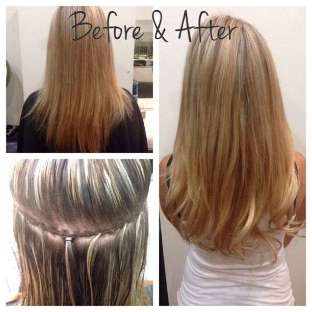 One Track Of Hair Extensions With 4 Pieces Of Hand Tied Bohyme Hair