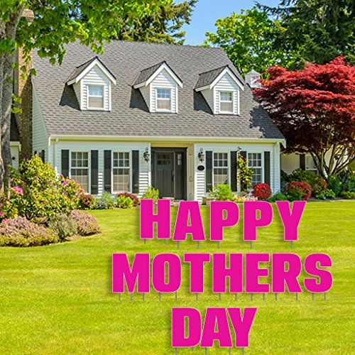 happy mothers day yard decoration letters with 26 stakes https