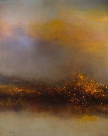 Buy Another Morning At The Marshes, a Oil on Canvas by Maurice Sapiro from United States. It portrays: Landscape, relevant to: painting, realism, seascape, sky, sunlight, morning, clouds, flowers, garden, landscape, light, nature oil painting on canvas