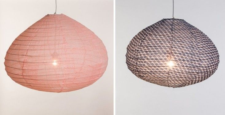 Global Spin A Charming New Take On The Paper Lantern Remodelista Paper Lantern Lights Japanese Paper Lanterns Paper Lampshade