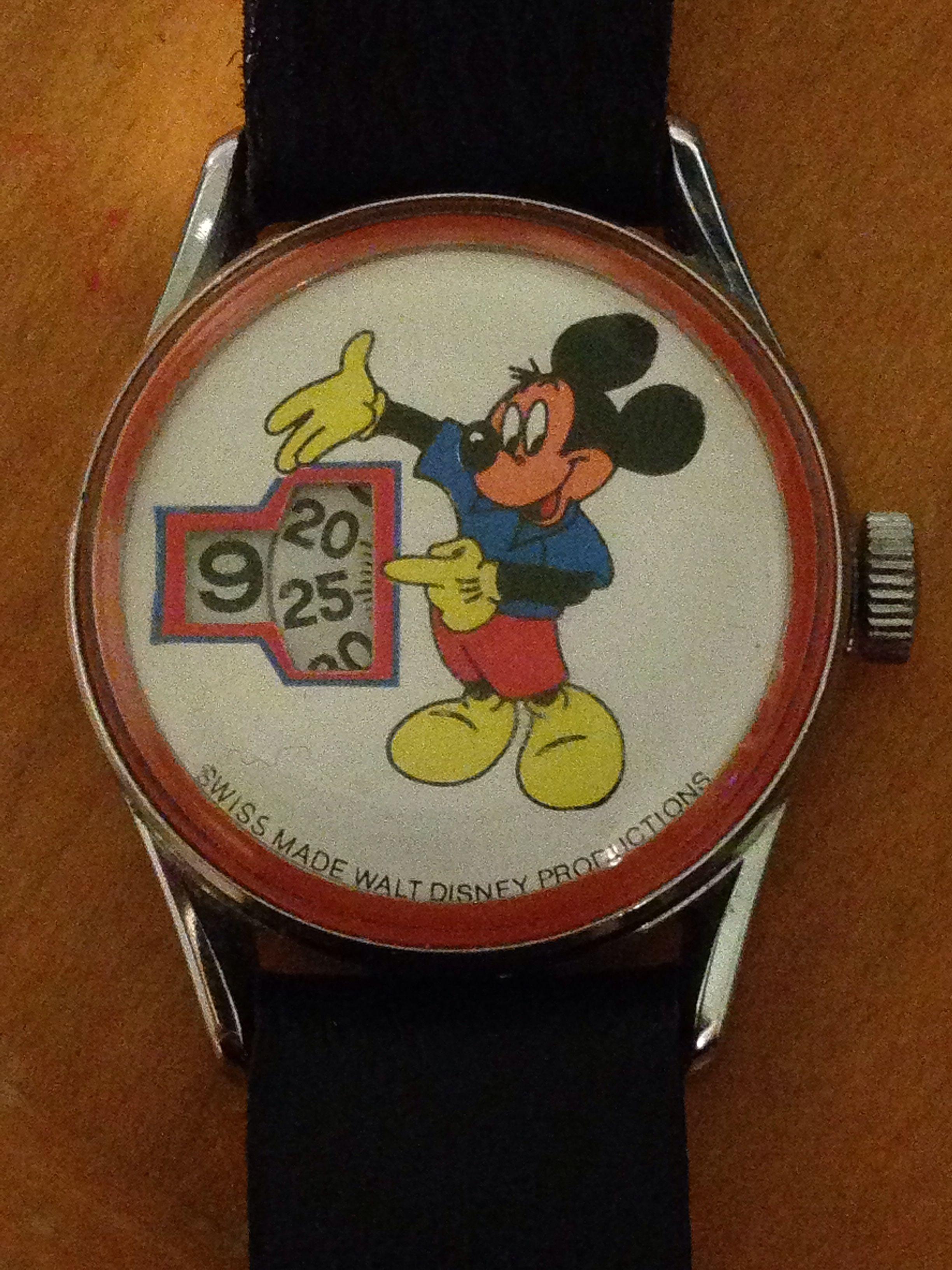adf99e3f3 Super #rare #vintage #swiss made #Walt #Disney productions #MickeyMouse jump