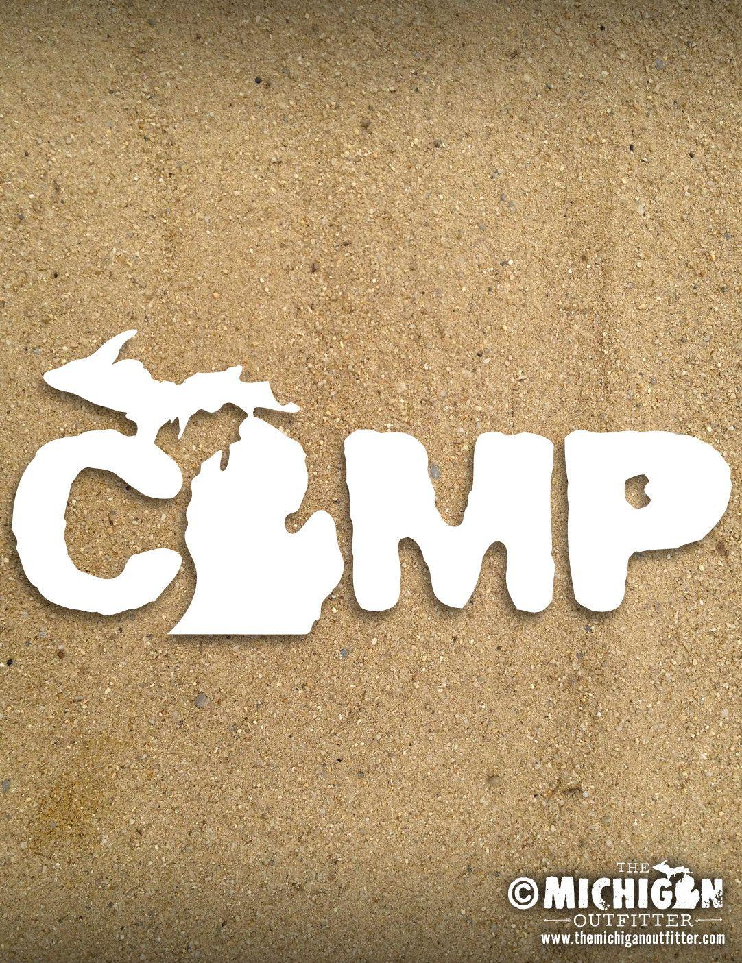 Michigan Decal Camp Michigan Decal Michigan Sticker Car Decals Vinyl [ jpg ]