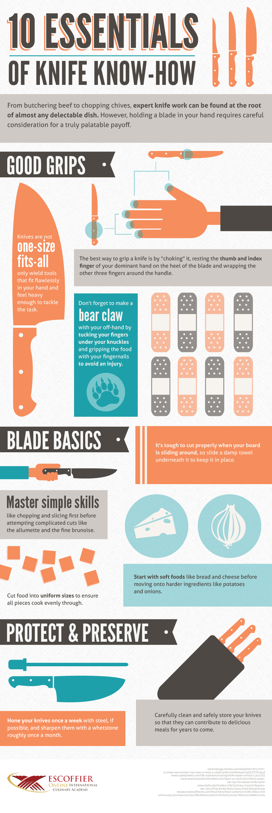 Safety Tips For Using Knives In The Kitchen Escoffier