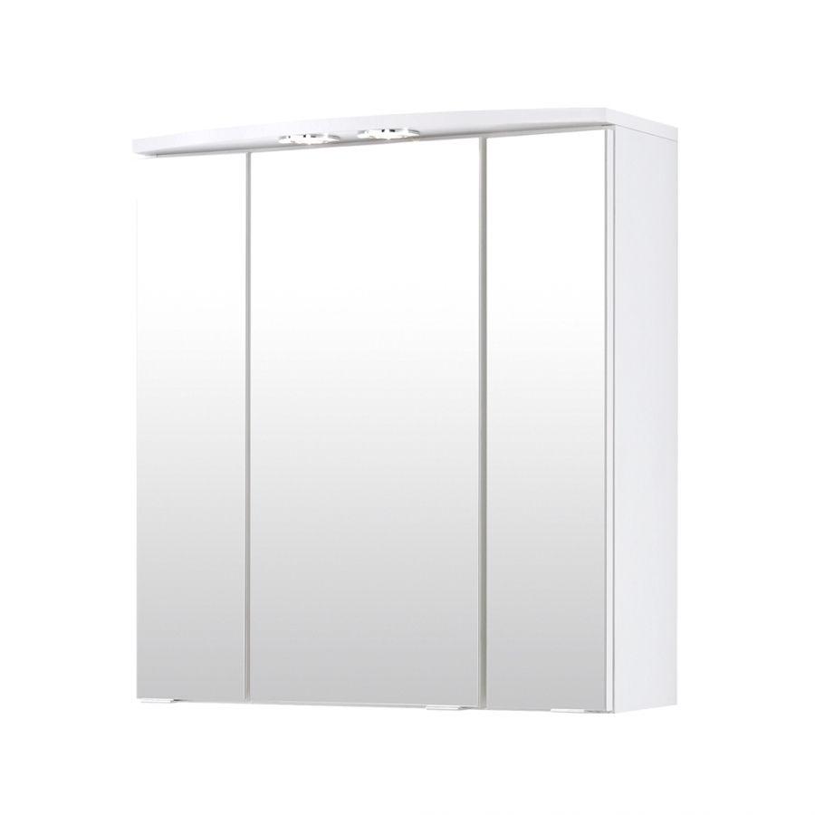 Armoire Miroir 3d Kopenhagen 3 Portes Blanc Appart