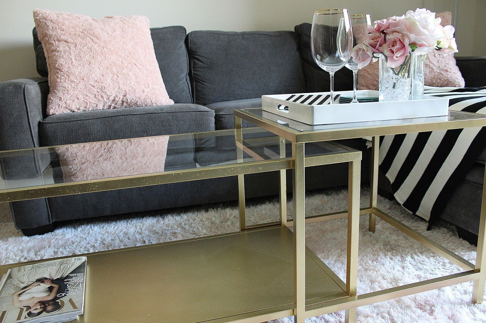 Ikea Hack Diy Gold Coffee Table Bloninthecity