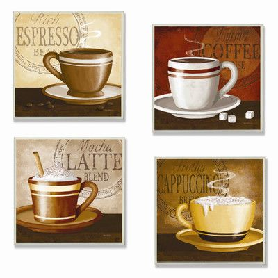 Found It At Wayfair Stupell Industries Home D Cor Squares Espresso Coffee Latte Cappuccino Wall Plaques Set Of