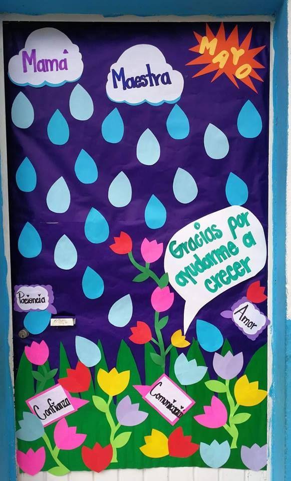 Puerta decorada del mes de mayo educaci n puertas for Puertas decoradas para el 10 de mayo