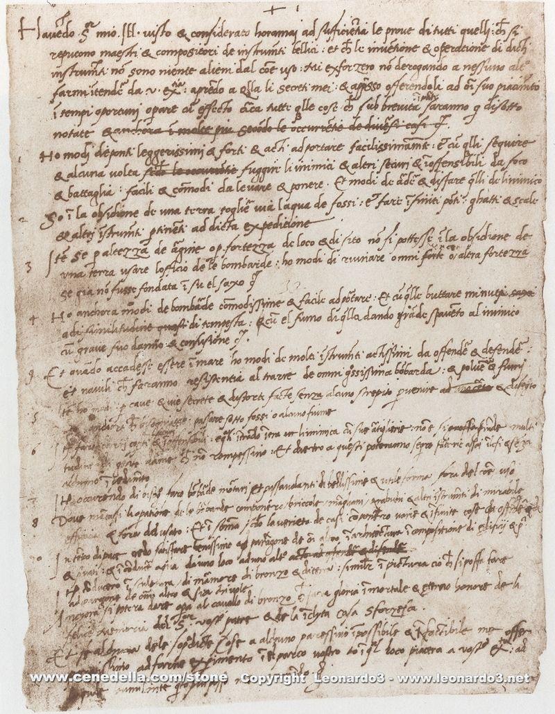 Curriculum Vitae De Leonardo Da Vinci Educacion Pinterest