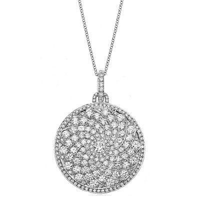 Graduating diamond curved pave disc pendant jewellery uk wedding graduating diamond curved pave disc pendant jewellery uk wedding jewelry and anniversary gifts aloadofball Image collections