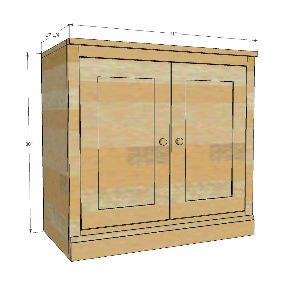 Ana White | Build a Smith Media Wall: Side Base Cabinet | Free and ...