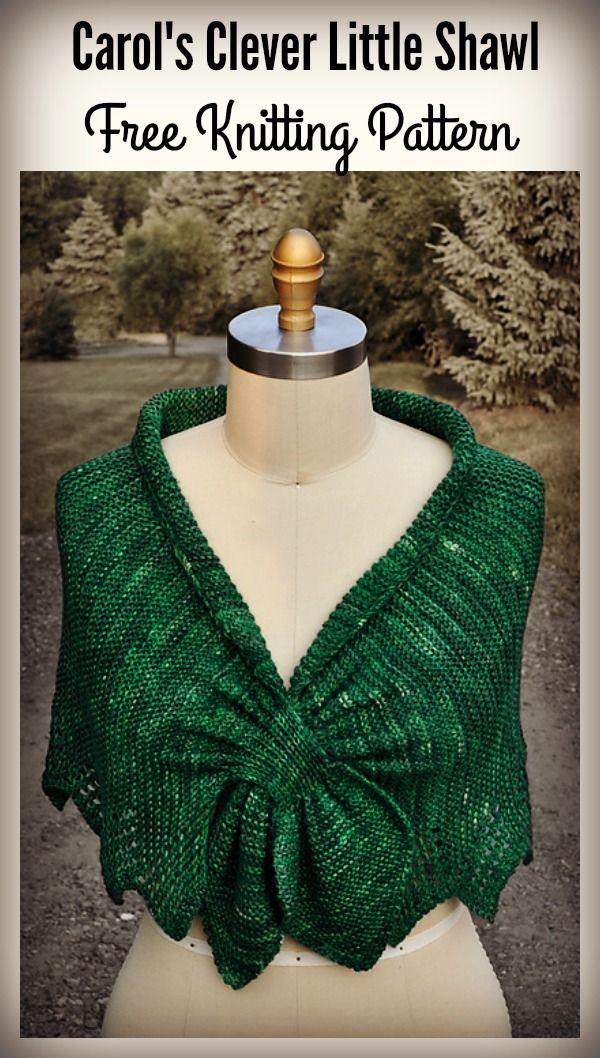 Carol\'s Clever Little Keyhole Shawl Free Knitting Pattern | Chales ...