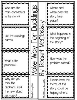 Make Way For Ducklings Book Companion (Paired Text) Fun
