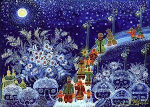 Ukrainian Christmas Greetings Merry Christmas Drawing Ukrainian Christmas Christmas Paintings