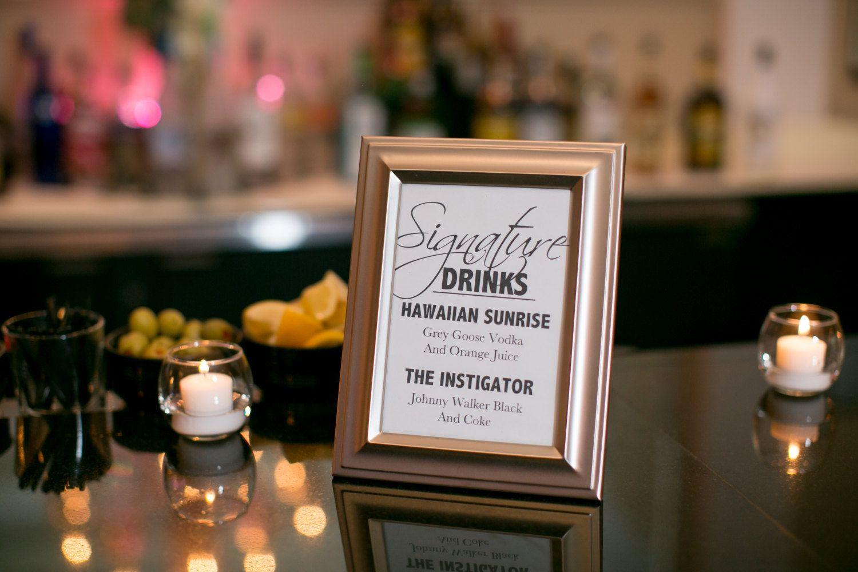 Wedding Signature Drink Sign Wedding signature drinks