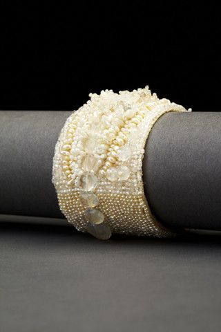 Pearl Point Couture Cuff