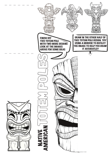 Native American Totem Pole Worksheet | Teaching Art / tutorials ...