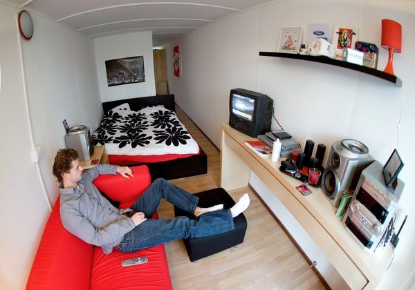 Pictures: Amsterdam\'s Lean, Green Shipping Container Homes ...