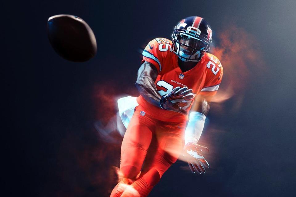 Nfl Unveils Broncos Color Rush Uniform Broncos Color Rush Color Rush Uniforms Color Rush