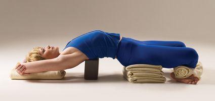a sitting pose for lotuschallenged yogis  restorative