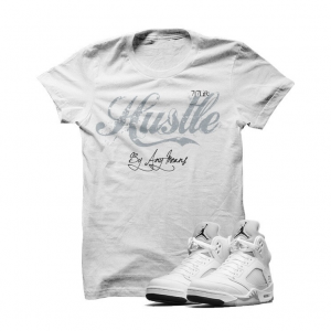 6f48300c12ac Hustle By Any Means MetallicSilver5s White T Shirt. Hustle By Any Means  MetallicSilver5s White T