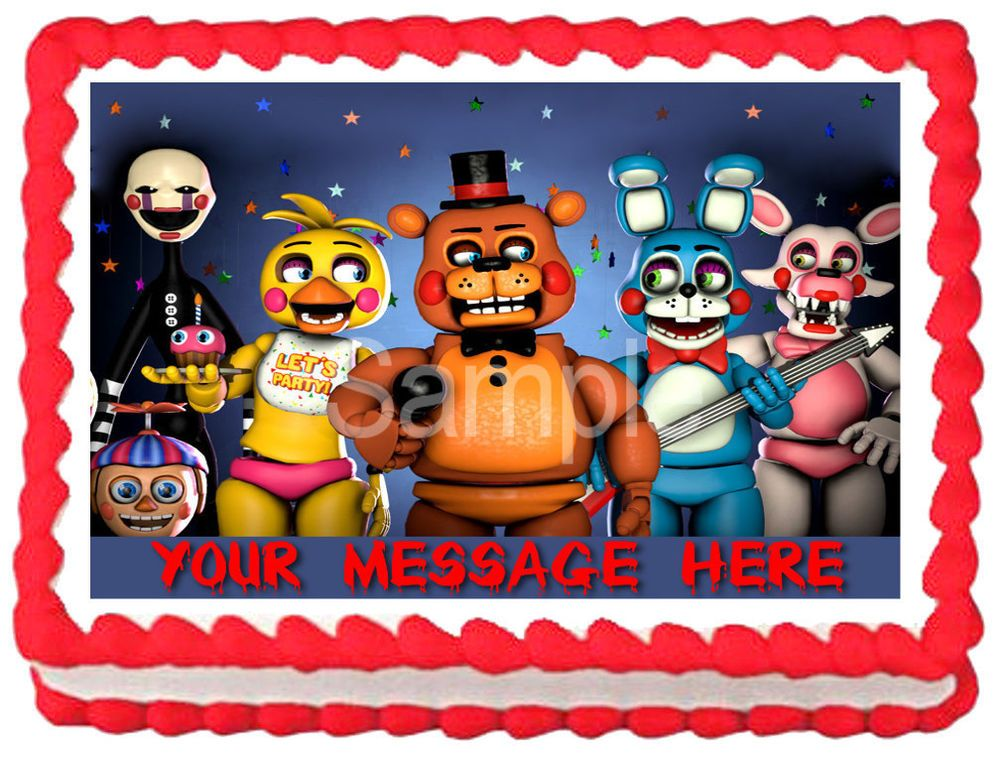 FIVE NIGHTS AT FREDDY/'S Party Edible Cake topper image decoration