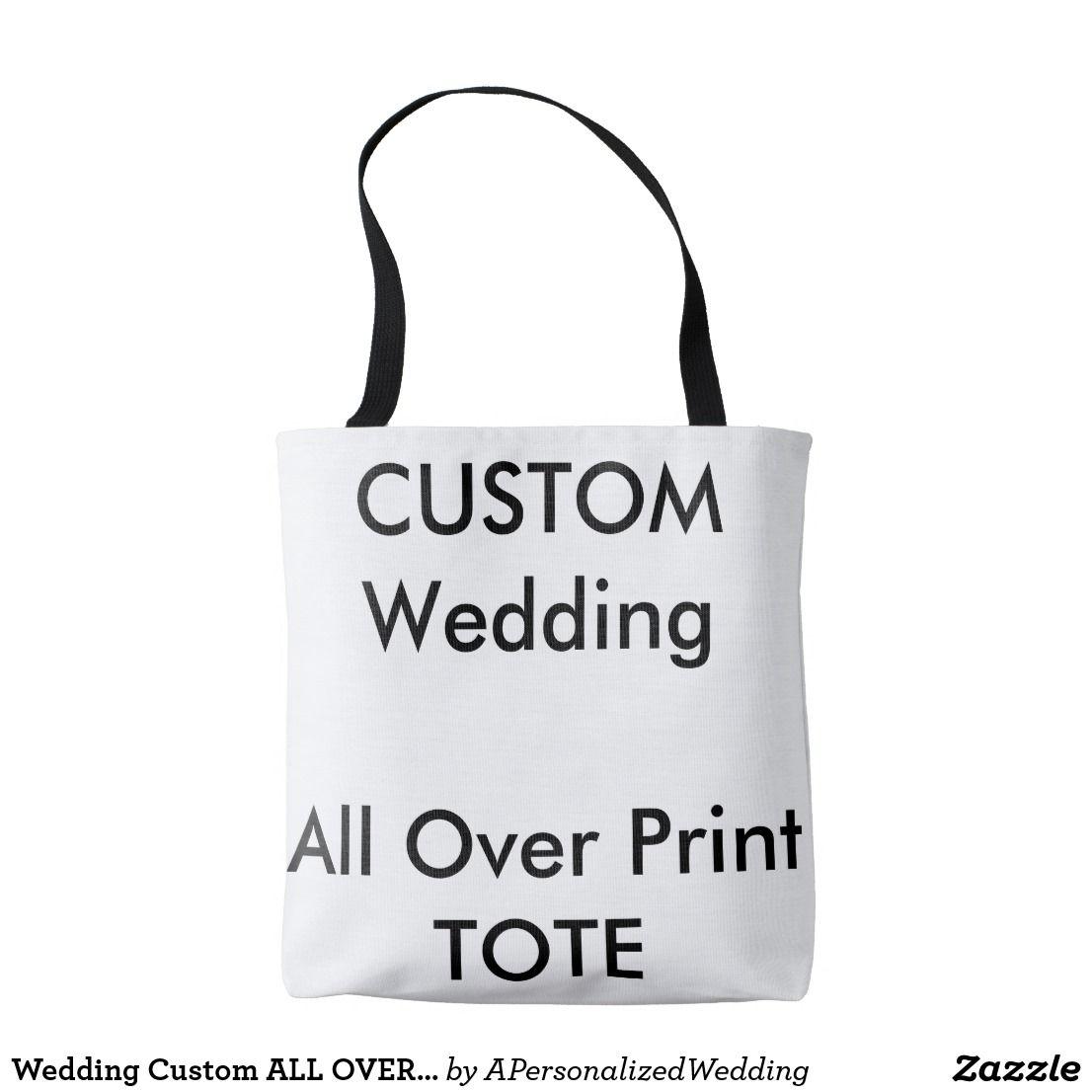 2f10797ce5 Wedding Custom ALL OVER PRINT Tote Bag MEDIUM | Tote Bags | Tote Bag ...