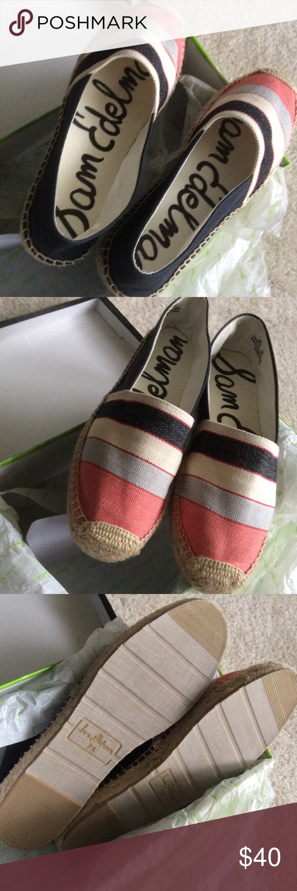 a7b2894b44d92f NWB Sam Edelman Verona espadrilles size 7 This cute and chic espadrilles  says 71 2