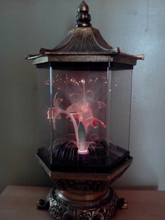 Vintage Fiber Optic Flowers Lamp Rare Metal This Is The One Gramma Had And I Wish She Still Did Flower Lamp Lamp Fibre Optics