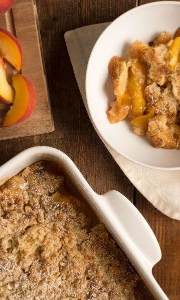 Bourbon Peach Cobbler #summersouthernfood