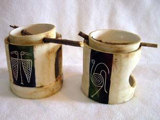 Cer mica artesanal portavelas ceramica pinterest artesanal cer mica y alfareria - Vajilla ceramica artesanal ...